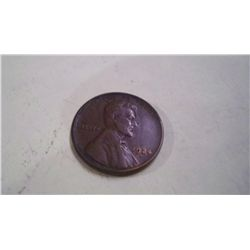 1924-D LINCOLN WHEAT PENNY, XF-40
