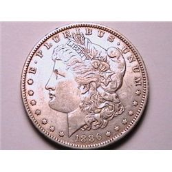 TOUGH DATE 1886-O Morgan Dollar AU
