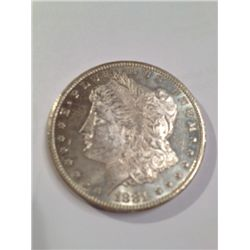 1881-CC KEY DATE MORGAN SILVER DOLLAR, BU MS-62