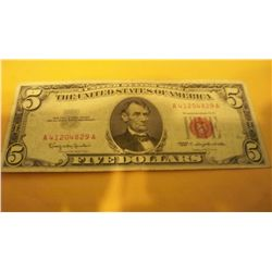 1963 $5 Red Seal Federal Note