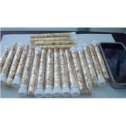 20 Large Vials of Gold Flakes 4""