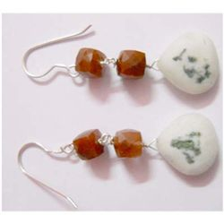 Natural 33.00 ctw Semi Precious Earring .925 Sterling