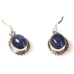 Natural Tanzanite4.12g Oval Earrings .925 Sterling