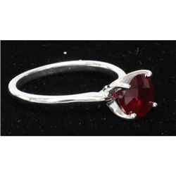 Natural 1.25ctw Ruby .925 Sterling Silver Ring