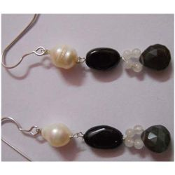 Natural 23.80 ctw Semi Precious Earring .925 Sterling