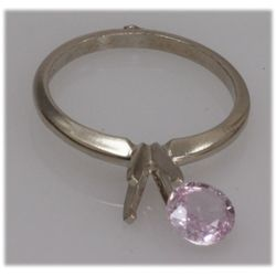 NATURAL 0.92 CTW 14K PINK SAPPHIRE GOLD RING
