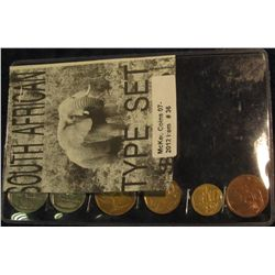 36. Six-Piece Type Set of South Africa Coins in special holder.