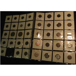 53. Two plastic pages with (39) Canada Coins including