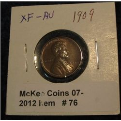 76. 1909 P Lincoln Cent. EF-AU.