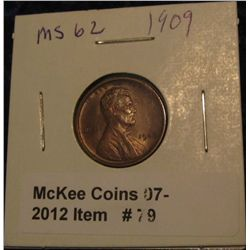 79. 1909 P Lincoln Cent. Brown MS 62.