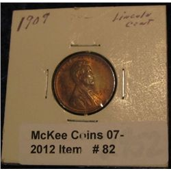 82. 1909 P Lincoln Cent. Brown Unc.