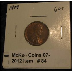 84. 1909 P Lincoln Cent. Brown MS 60.