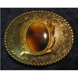 92. Men's Western Style Belt Buckle with Oval inset.