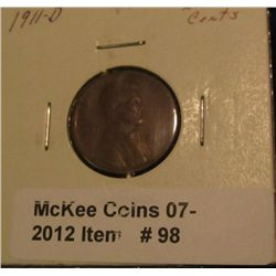 98. 1911 D Lincoln Cent. VF 20.