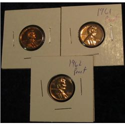 302. 1959P, 61P, & 62P Proof 63-65 Lincoln Cents.