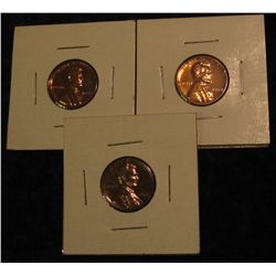 306. 1956P, 57P, & 62P Proof 63-65 Lincoln Cents.