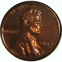 310. 1938 P Proof 63 Lincoln Cent. Scarce.