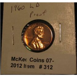 312. 1960 P Large Date Proof 63 Lincoln Cent. Scarce.