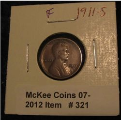 321. 1911 S Lincoln Cent. F-12.