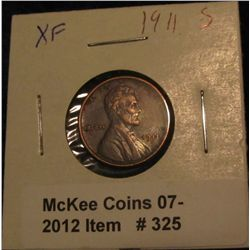 325. 1911 S Lincoln Cent. VF 20.