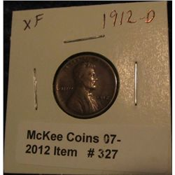 327. 1912 D Lincoln Cent. EF 40.