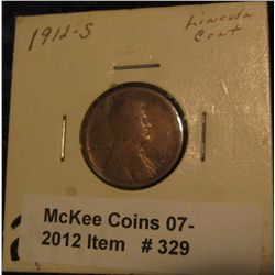329. 1912 S Lincoln Cent. VG-8.