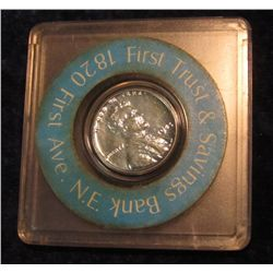 "334. 1943 P Steel Cent in an Advertising case ""First Trust"