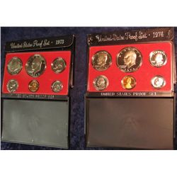 802. 1973S & 1974S US Proof Sets. Original as Issued.