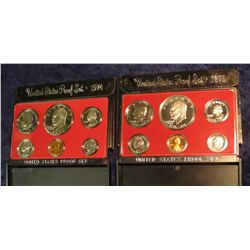 803. 1974S & 1975S US Proof Sets. Original as Issued.