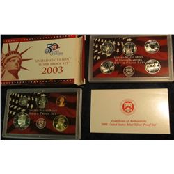 808. 2003S Silver US Proof Set. Original as Issued.