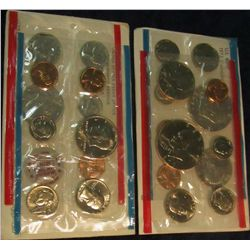814. 1972 & 1973 US Mint Sets. Original as Issued.