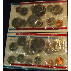 818. 1976 & 1977 US Mint Sets. Original as Issued.
