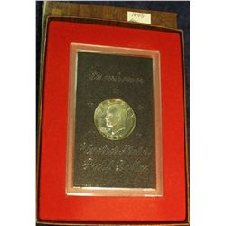 823. 1971S Silver Eisenhower Dollar. Proof in Brown Box.