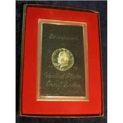824. 1971S Silver Eisenhower Dollar. Proof in Brown Box.