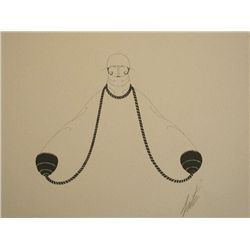 ERTE ERTE Signed Lithograph Russian 1976