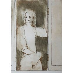 FINI LEONOR FINI H.Signed Etching French 1973 Erotic Art