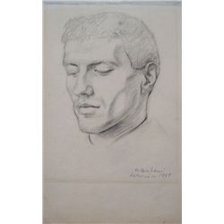 BERLEWI HENRYK BERLEWI Signed Drawing Polish Art 1919
