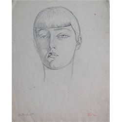 BERLEWI HENRYK BERLEWI Signed Drawing Polish Art