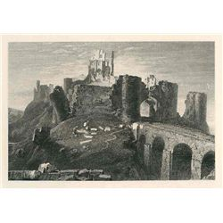 "Turner ""Corfe Castle"" Engraving"
