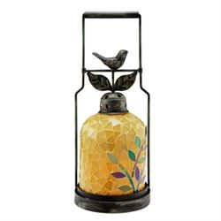 Bird Mosaic Glass Lantern / Candle Holder