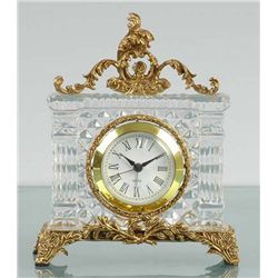 ITALIAN LEAD CRYSTAL CLOCK