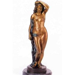 """Nude On Tree"" Bronze Sculpture - A. Moreau"