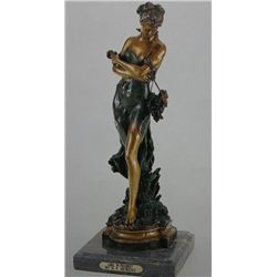 """Teaching How To Dance"" Bronze Sculpture - A. Moreau"