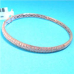 18K ROSE GOLD BANGLE WITH DIAMOND