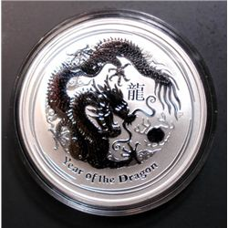 2012 PERTH MINT AUSTRALIAN 1 Oz. SILVER YEAR OF THE DRAGON