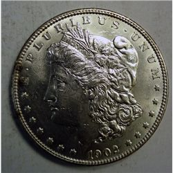 1902 MORGAN DOLLAR CHOICE BU+