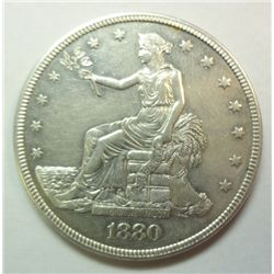 1880 Trade $, Proof 55 (proof only year) 1987 minted  l lightly circ w/no damage
