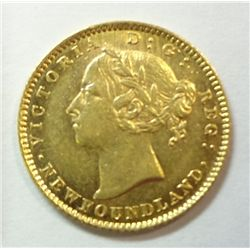Canada Newfoundland $2 Gold, 1882 H, BU60, P-L surfaces