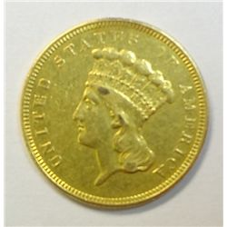 1854-O $3 Gold Rare O mint, XF/AU Lightly cleaned,