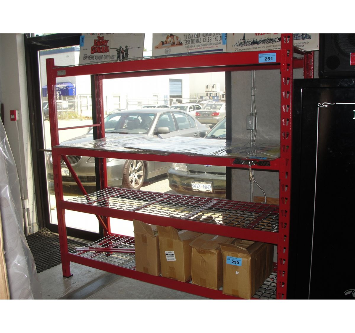 approx 6ft tall snap on tools shop shelving system. Black Bedroom Furniture Sets. Home Design Ideas
